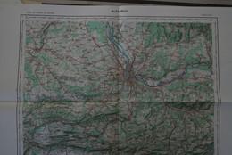 ALTKIRCH N° R11 , Carte IGN 1/100 000°éditée 1956= Rives Droite Et Gauche Du Rhin Au Niveau De Bâle/Basel , Lörrach Etc - Topographical Maps