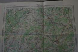 GRAY N° O11 , Carte IGN 1/100 000°éditée 1958 = Gray, Selongey, Champlitte, Etc. - Topographical Maps