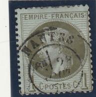 ///    FRANCE  ///     Napoléon III - Lauré N° 25 Côte 25€ Bronze Ou Olive  CAD Nantes - 1863-1870 Napoleon III With Laurels