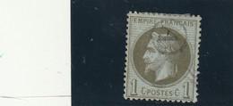 ///    FRANCE  ///     Napoléon III - Lauré N° 25 Côte 25€ Bronze Ou Olive Oblitération Premier Janvier  ??? - 1863-1870 Napoleon III With Laurels