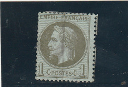 ///    FRANCE  ///     Napoléon III - Lauré N° 25 Côte 25€ Bronze Ou Olive  TRAIT VERTICAL = Oblitération Journal ??? - 1863-1870 Napoleon III With Laurels