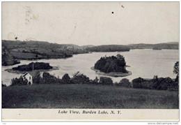 Lake View. Burden Lake, N.Y., B&W, RP, 1c Stamp - Other