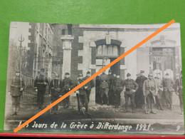Les Jours De La Grève à Differdange 1921. Carte Photo - Altri
