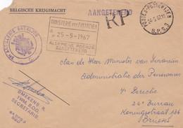 """Gelopen Stuk: """" Postes - Posterijen BPS 3 """"  =>  Ministervan Financien / Aangetekend / 2de Artillerie Bataljon. - Correo Militar"""