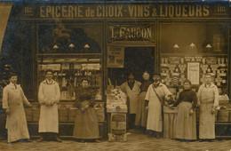 PANTIN - Carte-Photo - Epicerie De Choix, L. Faucon - Angle Des Rues Magenta Et Pasteur - Bel état Général - Pantin