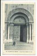 VALENCE SUR RHONE , Le Porche De L' église Saint Jean , CPA ANIMEE - Valence