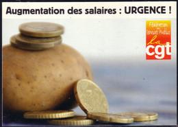 Carte Pétition De La Fédération CGT Services Publics Pour Augmentation Des Salaires - Labor Unions