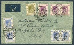 1938 Hong Kong Victoria $2.80 Franking Airmail Cover - Buffalo NY USA - Covers & Documents