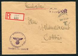 1943 Germany Registered Fieldpost Russia Cover / Feldpost Einschreiben Feldpostamt 258 Orel Russland - Storia Postale