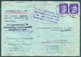 1944 Germany Twistringen Redirected Essen Cover - Storia Postale