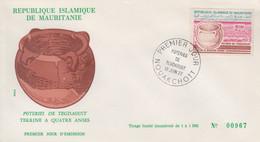 Enveloppe FDC  1er  Jour   MAURITANIE   Poteries  De  TEGDAOUST   1977 - Mauritania (1960-...)
