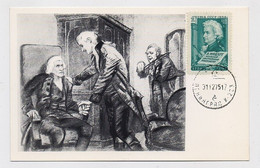 CARTE MAXIMUM CM Card USSR RUSSIA Art Painting Music Composer Mozart Salieri Austria - Tarjetas Máxima