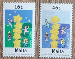 Malte - YT N°1100, 1101 - EUROPA - 2000 - Neuf - Malta