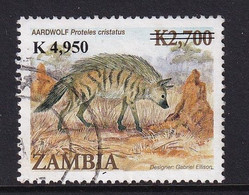 Zambia 2009, Overprint K4,950 On K2,700. Aardwolf, Minr 1629 Vfu. - Zambie (1965-...)