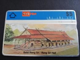 MALAYSIA Nice Used  KADFON   L&G CARDS   $ 5 ,-  SERIE 209F      ** 5495*** - Maleisië