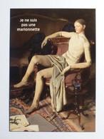 MUSEE BOURDELLE - MANNEQUIN FETICHE - Homme Assis Sur Fauteuil - Pas Marionnette / Alan BEETON - Carte Publicitaire - Museum