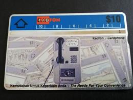 MALAYSIA Nice Used  KADFON   L&G CARDS   $ 10 ,-  SERIE 304D      ** 5496*** - Maleisië