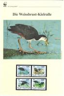Malediven 2013 - WWF Die Weissbrust-Kielralle - Komplettes Kapitel Postfrisch MK FDC - Unclassified