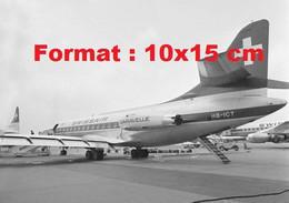 Reproduction Photographieancienned'un Avion Caravelle De Swissairaéroport De Kloten EnSuisse 1965 - Reproductions
