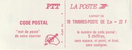 2427 C1 CARNET LIBERTE DELACROIX Code Postal 'Mot De Passe Pour Votre Courrier' Petite Variété Sur Un Timbre Cote 18E - Definitives