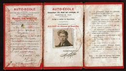 1927 - Auto-Ecole Raoul DE MEUSE - Diplôme Alfred GEYSEN - Voir Scans - Diplômes & Bulletins Scolaires