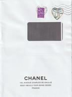 3633B. Saint Valentin Chanel Sur Enveloppe Chanel. 2004 - Covers & Documents