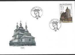 2008  Slowakei Mi. 588-9 FDC Kirche Von Hervartov   Kirche Von Dobroslava - FDC