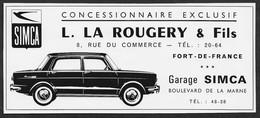 1963  --  MARTINIQUE . FORT DE FRANCE . GARAGE SIMCA LA ROUGERY . 3V569 - Non Classificati