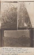 TREVISO-PONTE SULLA LIVENZA SALTATO -CARTOLINA COLLAGE(3 VEDUTE) -CARTOLINA VERA FOTOGRAFIA-NON VIAGGIATA 1915-1920 - Treviso