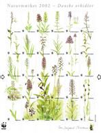 Denmark WWF 2002.  Sheet  With 30 Labels; Danish Orchids; MNH(**). - Non Classés