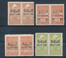 SYRIE - FISCAUX SURCHARGES N° 284/87 NEUFS* AVEC GOMME ALTEREE - 1945 - COTE : 86€ - Ongebruikt