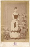 CABINET - Portrait En Studio D'une Femme Par LEJEUNE à Paris (Ca 1880) (BP) - Oud (voor 1900)