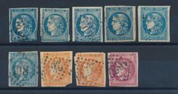 FRANCE - CERES DE BORDEAUX N° 45-45A-46BX4-48X2-49 - COTE MINI : 910€ - 1870/71 - 1870 Uitgave Van Bordeaux