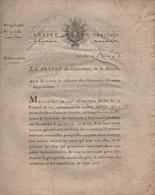 Prefet De La Manche - 14 Nivose An 13 - Enfants Trouves - 8 Pages - Documentos Históricos
