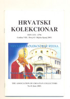 RIJEKA HRVATSKI KOLEKCIONAR No.41 YEAR 2003 - Slav Languages
