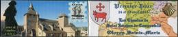 FRANCE - CARNET PRIVÉ 5 TP MARIANNE JEUNESSE 0,01 (DATÉ) - P.J. T.P. Chemins De Saint-Jacques à Oloron 24/25-04-2015 - Christendom