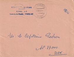 OMEC POSTE AUX ARMEES BCMC Pour SP 87000 101/10/1960 - War Of Algeria