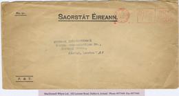 Ireland Official Dublin 1933 SAORSTAT EIREANN Env To London, Red Dublin OFFICIAL PAID Slogan 18 JAN 1933 - Non Classificati