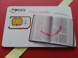 THAILAND SIM GSM Happy DTAC Book 11 - With Numbers USIM RARE Used (BH1219b5 - Thaïlande
