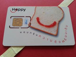 THAILAND SIM GSM Happy DTAC Bread 12 - With Numbers USIM RARE Used (BH1219b5 - Thaïlande