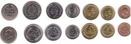 El Salvador - Set 7 Coins 1 2 3 5 10 25 50 Centavos 1972 - 1999 UNC / AUNC Lemberg-Zp - El Salvador