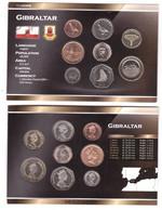 Gibraltar - Set 8 Coins 1 2 5 10 20 50 P 1 2 Pounds 1995 - 2016 UNC In Cardboard Box Lemberg-Zp - Gibraltar