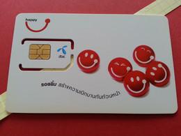 THAILAND SIM GSM Happy DTAC Smiles 23 - With Numbers USIM RARE MINT (BH1219b5 - Thaïlande