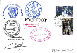 Marion Dufresne FSAT TAAF. 26.06.93 Le Port Reunion. Op 93-3.5. MD76 & 00.00.93 Annule Paquebot - Covers & Documents