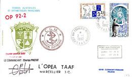 Marion Dufresne FSAT TAAF. 02.01.92 Kerguelen - Lettres & Documents