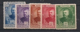 Monaco - 1923-24 - N°Yv. 65 à 69 - Série Complète - Neuf Luxe ** / MNH / Postfrisch - Unused Stamps