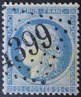 60A Belle Griffe, Planchage 67A2 Obl BUREAU SUPPLEMENTAIRE GC 4399 St-Soupplets (73 Seine & Marne ) Ind 13 - 1849-1876: Periodo Clásico
