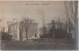 RARE  Carte Photo Ecully (69)  La Maison Rose Villa Bourgeoise Chemin Du Chancelier  Démolie En 1982 - Places