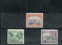 Chypre 1934 Yt 116-118 * - Chipre (...-1960)