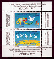 Cyprus(Turkije) Blok Postfris M.n.h. Europa Cept 1995 - 1995